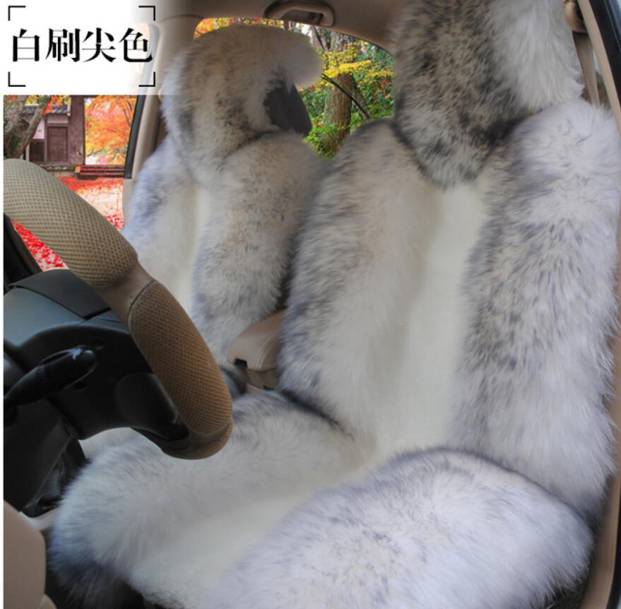100% fourrure naturelle australienne en peau de mouton siège de voiture couvre taille universelle pour siège accessoires automobiles 2016 D025-B