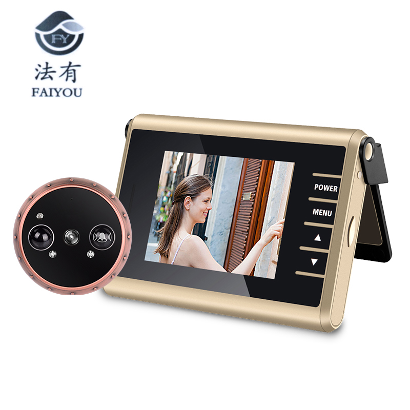 3 inch LED Door Viewer Peephole Door Bell Eye Doorbell Door Camera ZJA-D13 Photo/Video Press Recording With IR Night Vision 1.0 picture of mermaid pattern home appliances decoration 3d wall sticker