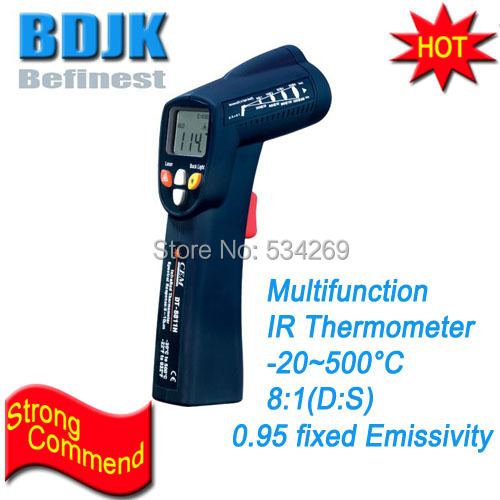 Multifunction InfraRed Thermometers Range -20~500 Professional IR Temperature Instruments compact infrared thermometers range 50 500 temperature instruments measuring tester