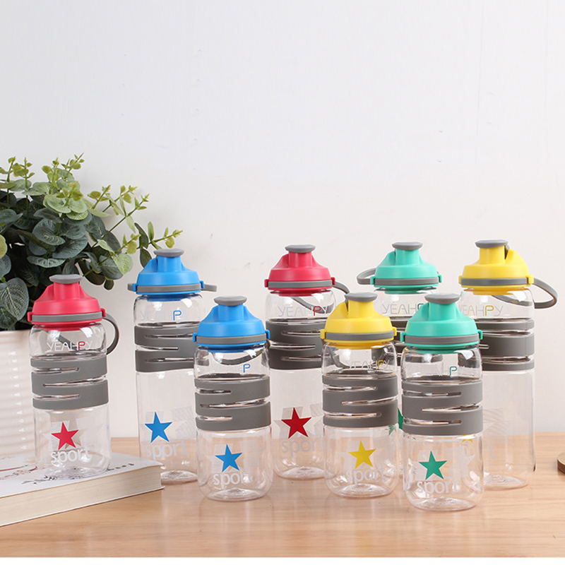 450ml water bottle silicone rope drinking bottle tea strainer bottle good gift silicone grap travel bottle