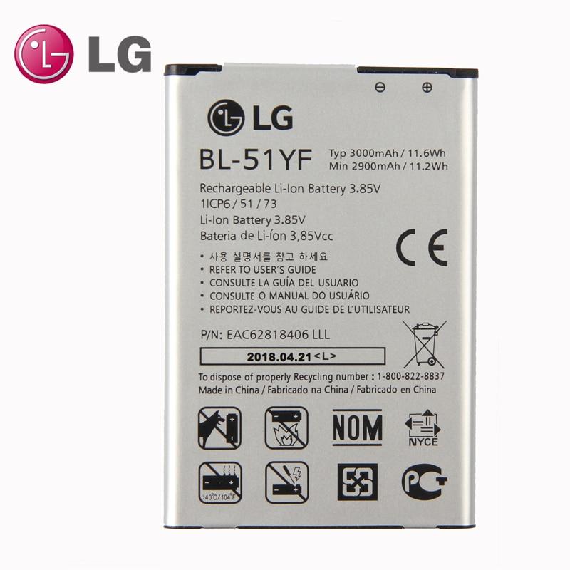 New Original LG BL-51YF Battery for LG G4 H815 H811 H810 VS986 VS999 US991 LS991 F500 G Stylo F500 F500S F500L F500K