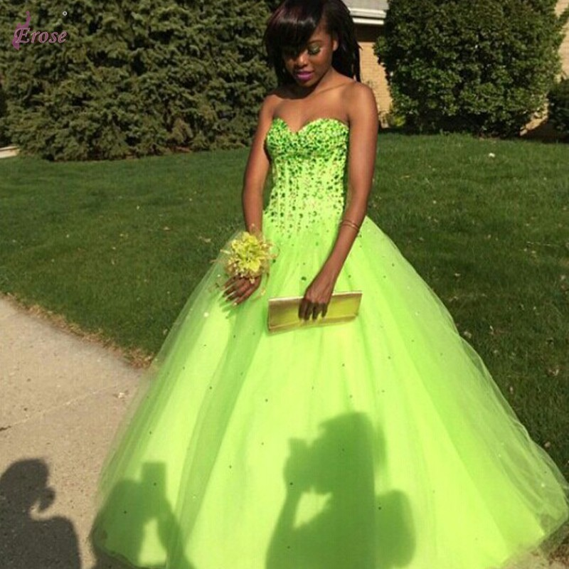 Popular Lime Green Dresses-Buy Cheap Lime Green Dresses lots from ...