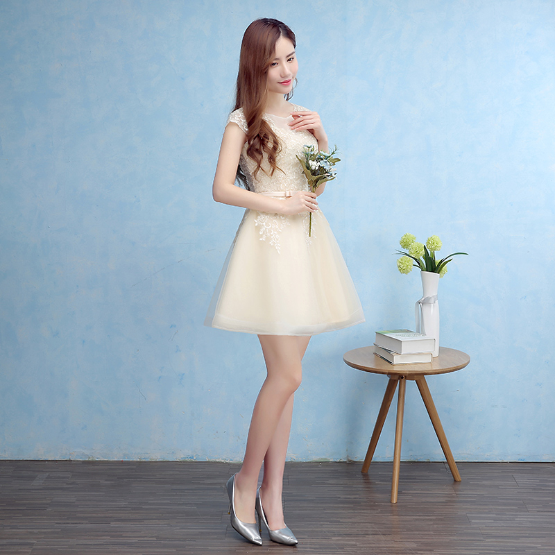 New Arrival Bridesmaid Dresses Elegant Short Bride Gown Cap Sleeves Ball Prom Party Homecoming/Graduation Formal Dress