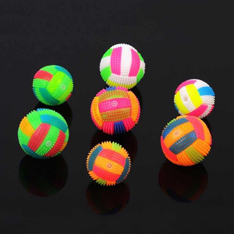 6.5 CM Bebek Çocuk Light-up Oyuncak Voleybol Zıplayan Ses Topları Işık Oyuncak Çocuklar Için Yanıp Sönen Parti Hediye Rastgele renkli j4