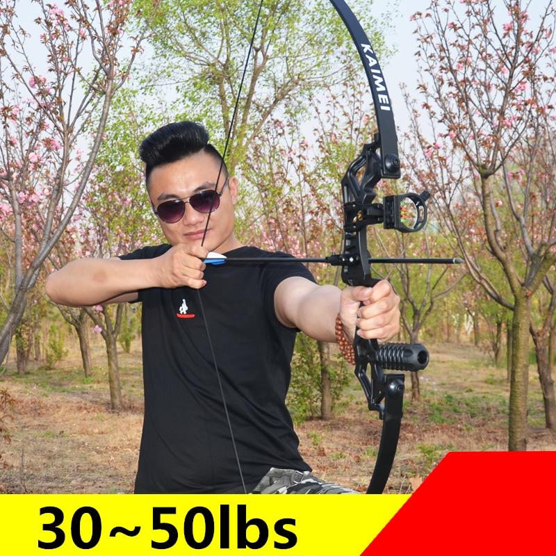 Novo profissional arco recurvo 30-50 libras poderosa caça tiro com arco flecha ao ar livre caça tiro esportes ao ar livre