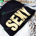 Зеркало акрил надписи заклёпка шапочки шляпа хип-хоп сексуальный обычный трикотаж шапочка шляпы