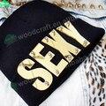 Carta de acrílico espejo remache mayorista sombrero gorros hiphop sexy personalizada de punto beanie sombreros