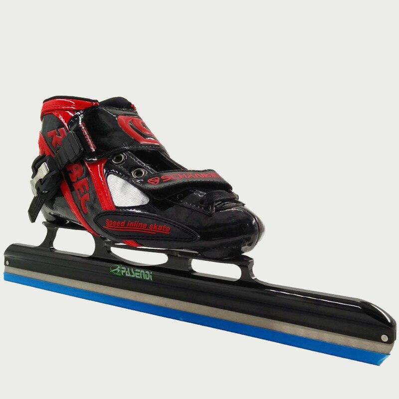Prix pour Professionnel Patins à roulettes Chaussures Adultes patins de hockey sur glace Enfants glace lame Rouleau Inline Chaussures de Patinage De Vitesse Noir Jaune Bottes