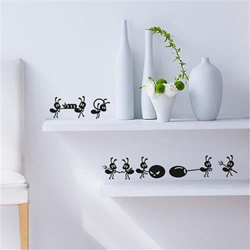 6*43cm Furnishing Wall Sticker Cartoon Ant Decoration Glass Stickers Mirror Window Decor Kitchen Bathroom Bedroom Wall Stickers