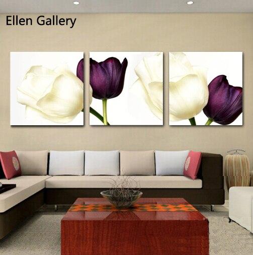 pieza moderna de flores de pared cuadros para la sala de pintura de la lona