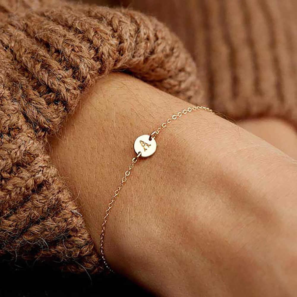Wanita Fashion Sederhana Disesuaikan Mawar Emas Gelang Fashion Perhiasan Gelang