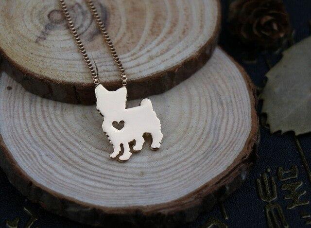 Купить ожерелье с подвеской для влюбленных из йоркширского терьера