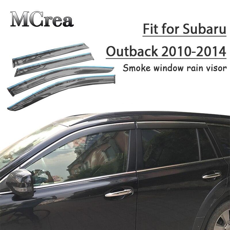 For Subaru Outback 2010-2014 Window Visors Side Sun Rain Guard Vent Deflectors