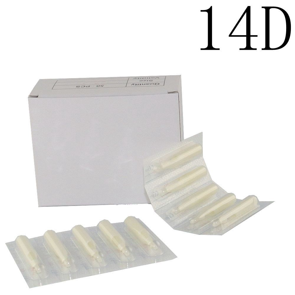 100 шт стерильные Ассорти пластиковые одноразовые татуировки 14DT белые насадки на тюбик для поставка машинок для татуировки