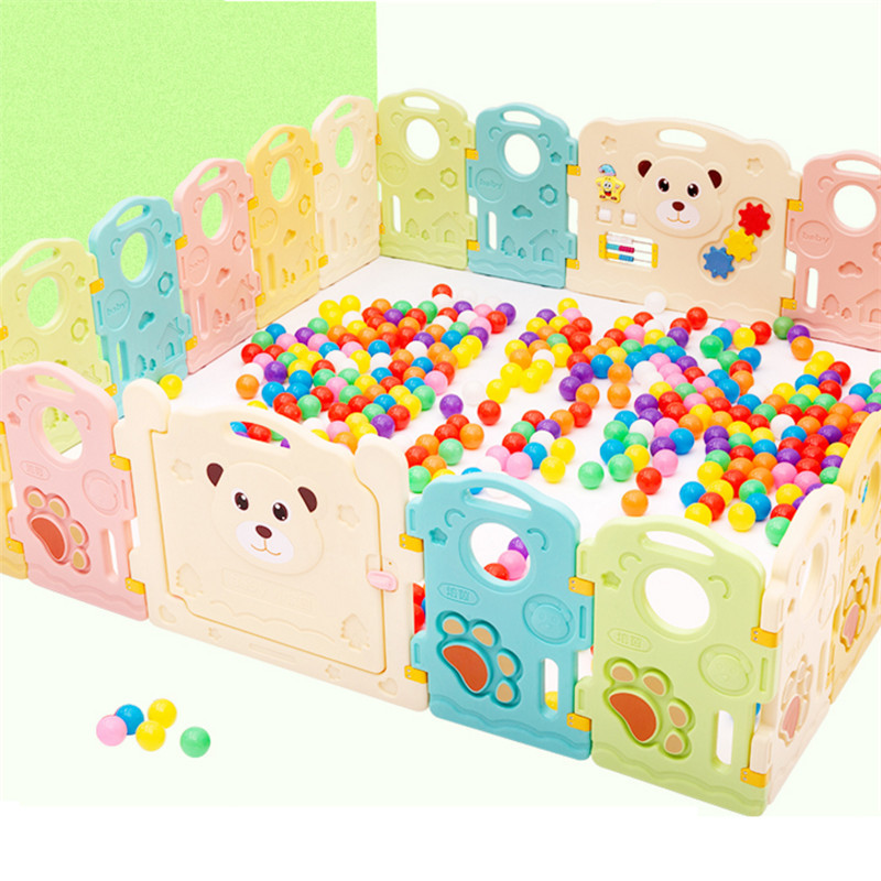 цена Baby Indoor Game Fence Crawling Fence Baby Toddler Safety Fence with Intellectual Game Baby Gate Environmental Playpen for Baby