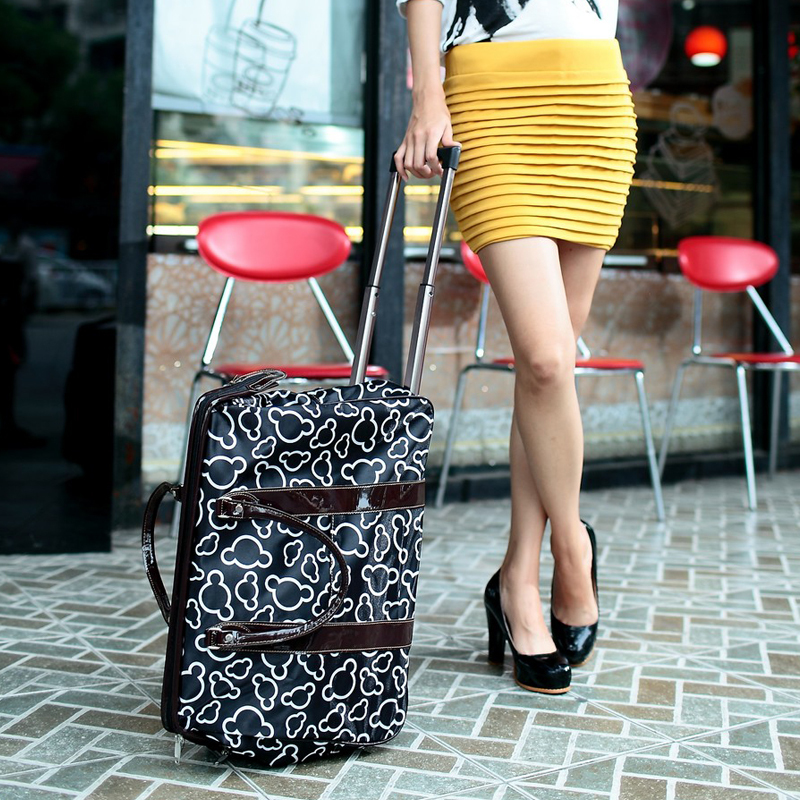 Free Shipping 2017 New Arrival Wheels Carry On Luggage Rolling Travelling Bag Travel Tote Women Items Tb22 In Bags From