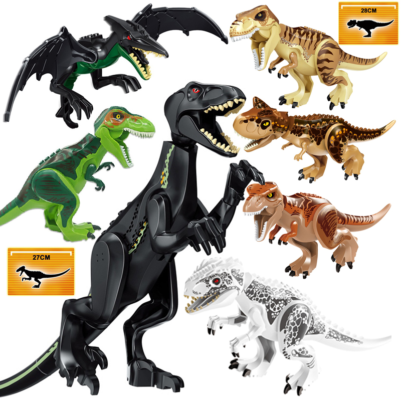 Dinosaur Blocks Building Bricks Set Model Jurassic World 2 Tyrannosaurus Indominus I-Rex Assemble Kids Toy