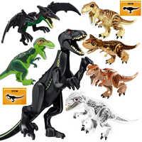 Dinosaurier Blöcke Gebäude Bricks Set Modell Legoing Jurassic Welt 2 Tyrannosaurus Indominus ICH-Rex Montieren kinder Spielzeug