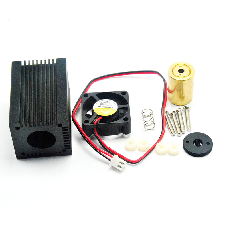 Focusable Housing/Case/Heatsink For 405nm 445nm 450nm 5.6mm Blue Laser Diode TO-18 LD Dot Module Fan
