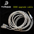 New Tingo 1.25M 16 Shares 5N Silver Plated Earphone Cables Headphones Wire HIFI Headset Line for Sennhei Pin Series IE8/IE80