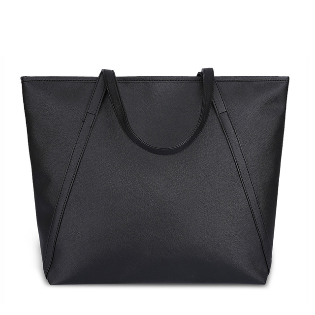 94c6a5b3c098 Black Casual Women Shoulder Bags PU Leather Female Big Tote Bags for Ladies  Handbag Large Capacity