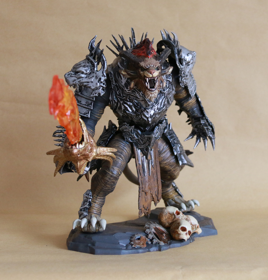 Vogue Classic Game Statue Guild Wars 2 Rytlock Brimstone Collectior s Edition Figure Model