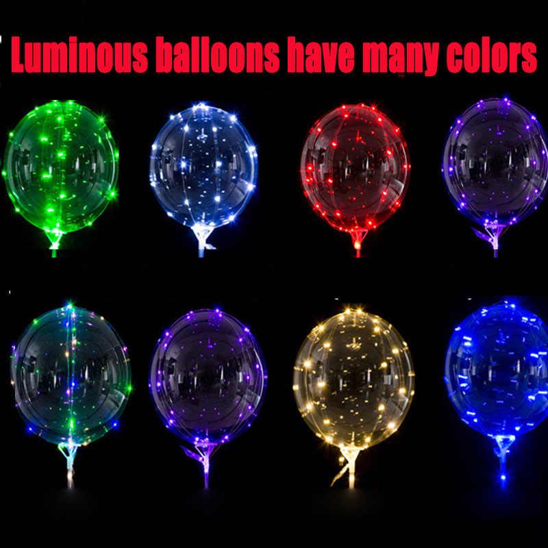 1 шт. 24 дюйма прозрачные воздушные шары светится в темноте Свадьба Декро надувные шары Детские игрушки для детей