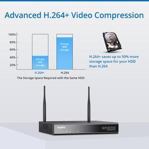 Image 3 - SANNCE 1080P 8CH bezprzewodowa kamera do monitoringu System 4 sztuk IP66 odporne na warunki atmosferyczne kamery Wifi Wi fi wideo z domu kamery monitoringu cctv Kit