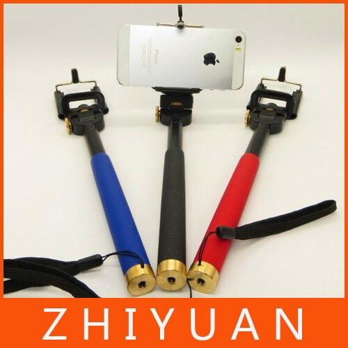 Selfie Rotary extensível Handheld câmera tripé celular monopé para iPhone 5 5C 5S câmera Digital Gopro acessórios