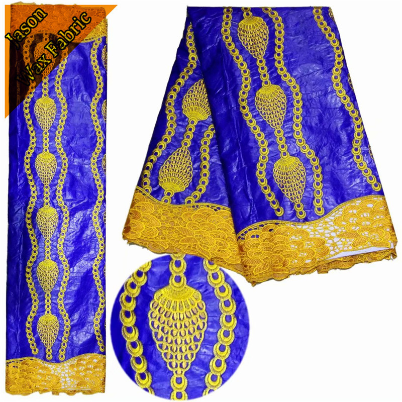 New design Embroidery African bazin riche lace Nigerian lace fabric 5 yards/for sewing wedding dress LBL