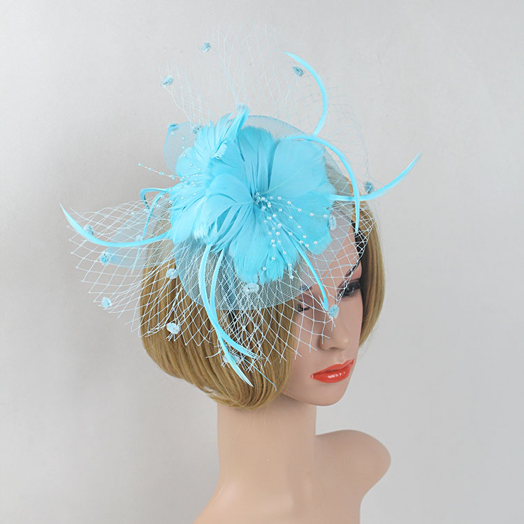 ▻New Style Flower Hairbands Bride Fashion Feather Headdress ...