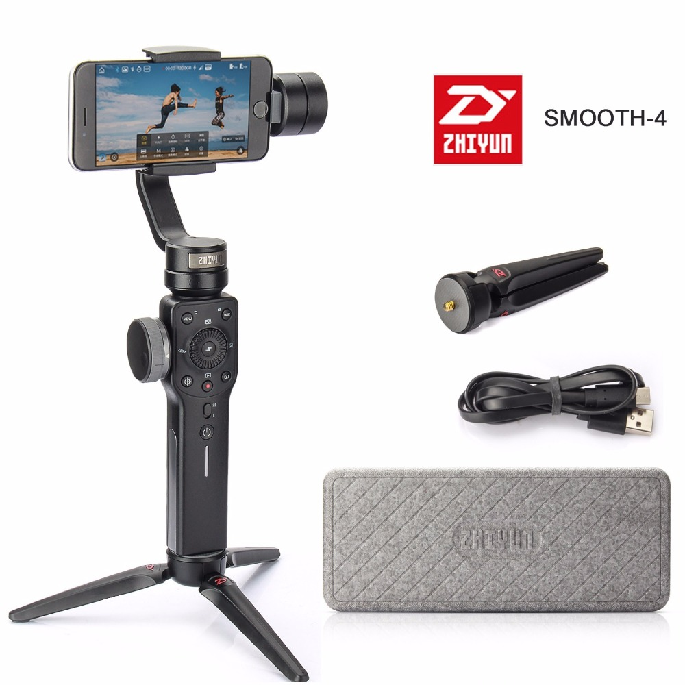 Zhiyun Smooth-Q Smooth 4 Handheld Gimbal Stabilizer for Photo With iPhone 8 7 6s Plus S7 S6 Xiaomi Galaxy S9 Plus Smartphones