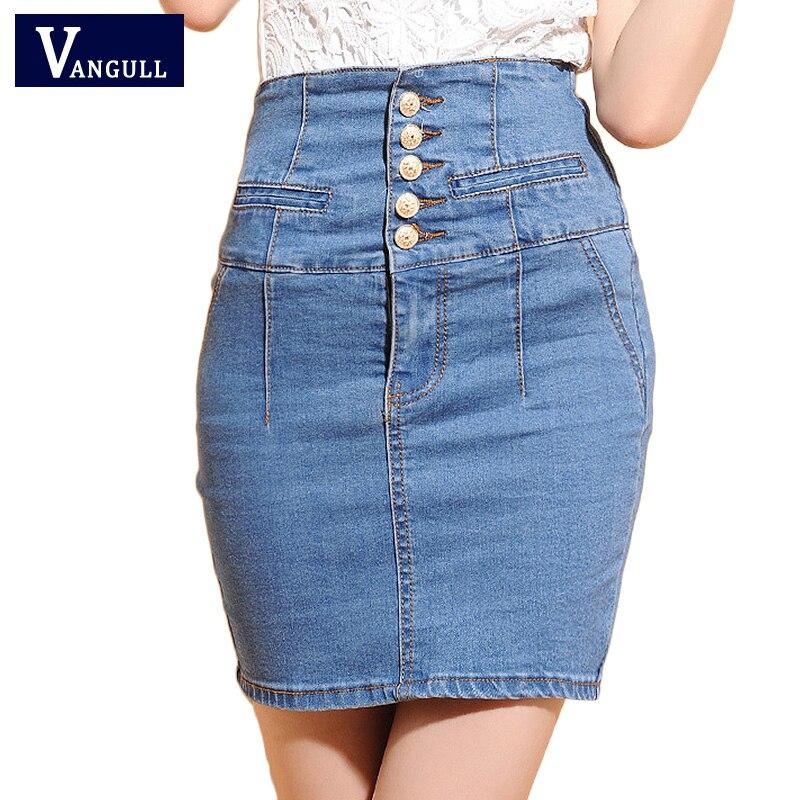 Джинсовые женские юбки больших размеров