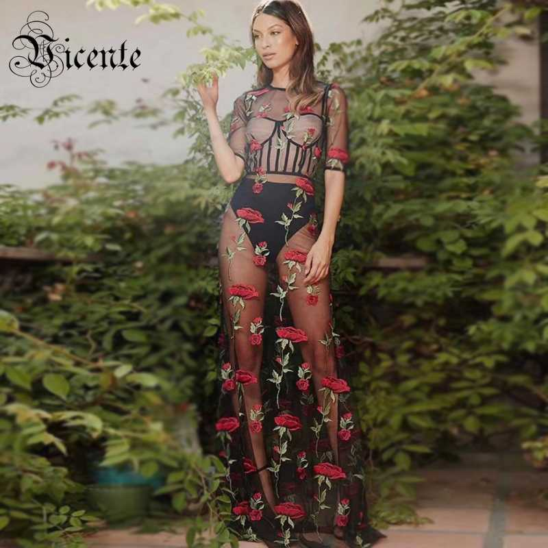bc5ea7f16f10f Detail Feedback Questions about Vicente HOT Chic Floral Print Two ...