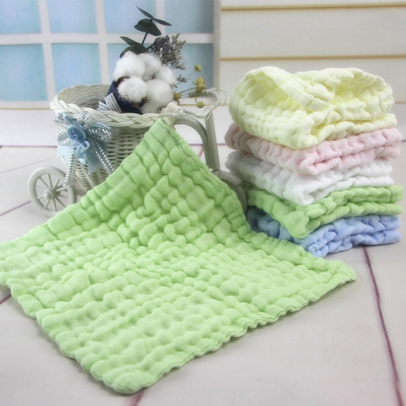 Soft Cotton Baby Infant Newborn Handkerchief Towel Washcloth Feeding Wipe Cloth ...