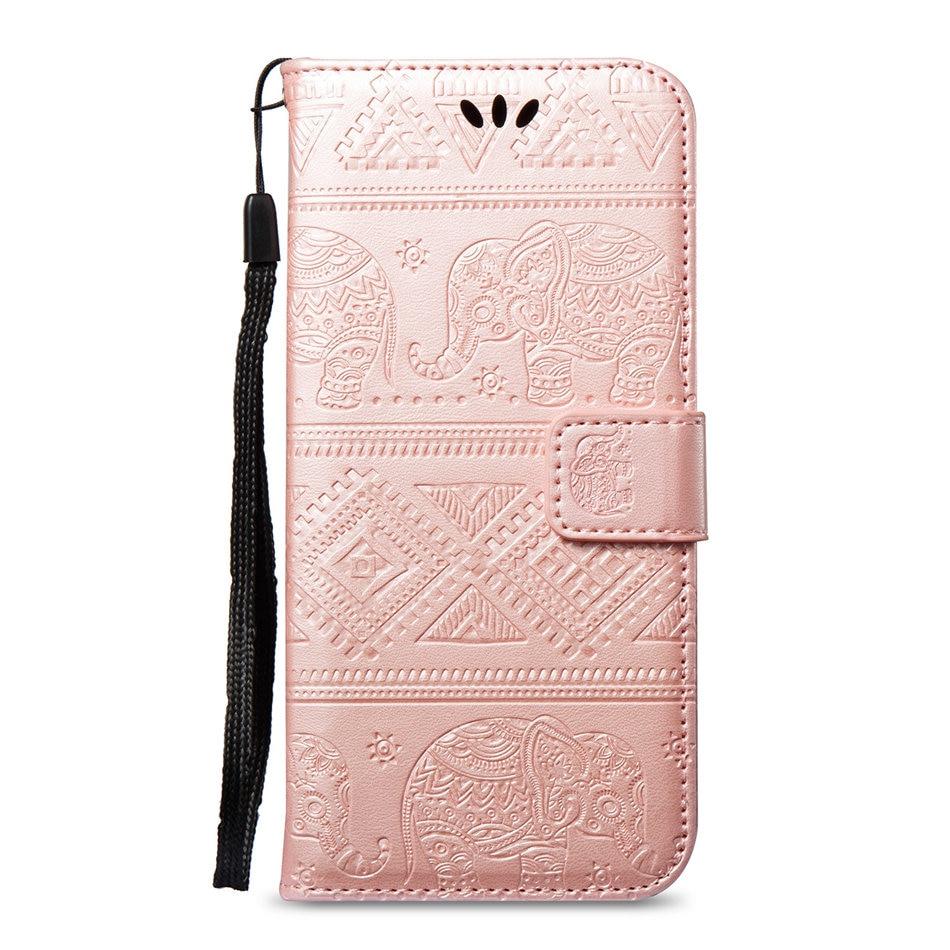 Flip Cases For Samsung Galaxy A7 A9 J3 J4 J6 Prime S9 S8 A6 A8 Plus 2018 Note9 Retro Simple Color Cover PU Leather Fundas E02Z