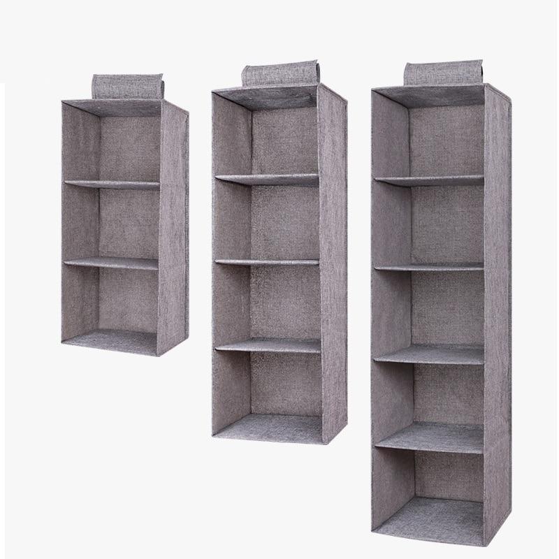 Drawer Shelves Hanging Wardrobe Organizer Storage Box Shoes Clothes For Bedroom SKD88