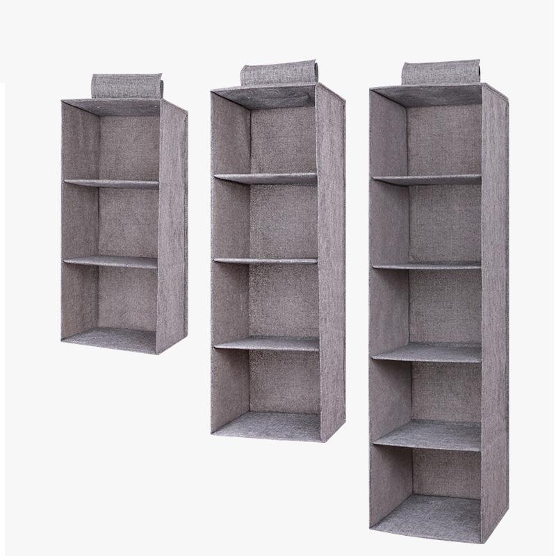 Drawer Shelves Hanging Wardrobe Organizer Storage Box Shoes Clothes For Bedroom SKD88
