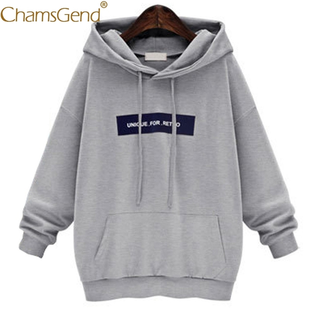 Chamsgend Hoodies Women Sweatshirts UNIQUE FOR RETRO Letter Oversized Hoody  Pullover Big Sizes Sweatshirt With Pocket 71220 f73d4097d