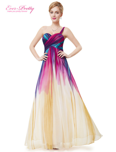 Party Prom Gown Dress Ever Pretty He08462 Padded Empire Waist Long