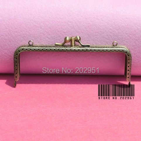 10pcs lot 15cm Antique Brass Metal Handbag Frame Kiss Clasp Bag Making Supplies Dual compartment Freeshipping