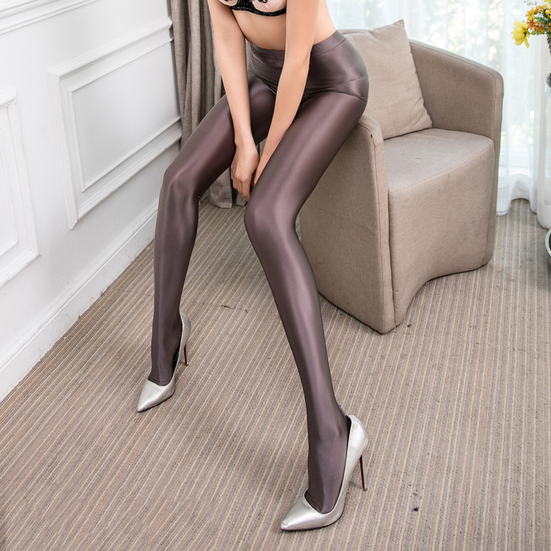 High end Wild sexy Pantyhose Gloss Shiny trousers SPA Tight fitting