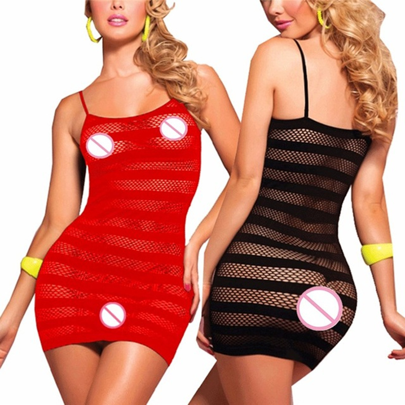 Porn Lenceria Sexy Underwear Sexy Lingerie Hot Transparent Mesh Baby Doll Dress Erotic Lingerie For Women Sex Costumes Sleepwear