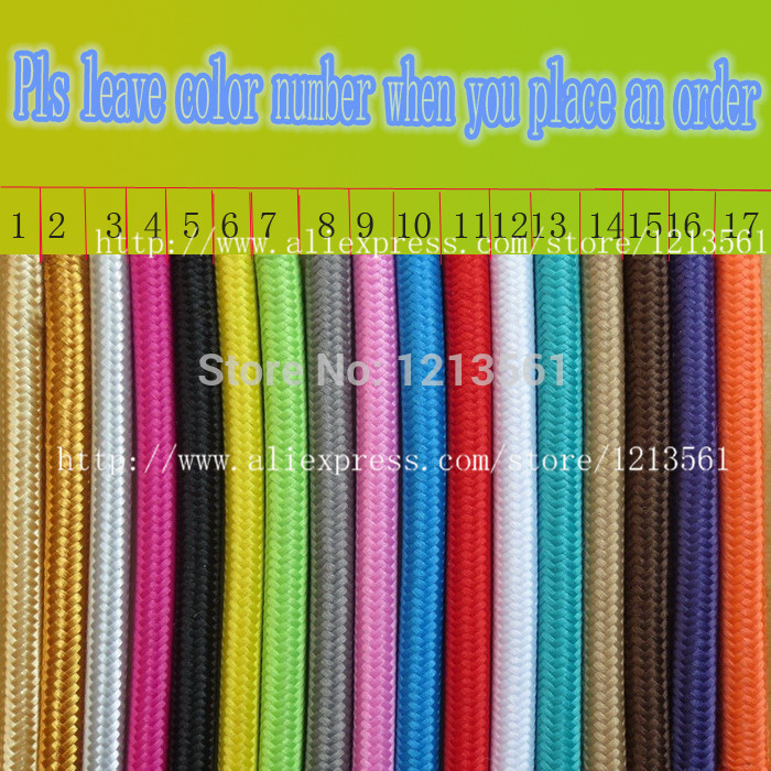 vintage cable 2*0.75 textile fabric electrical wire DIY pendant ...