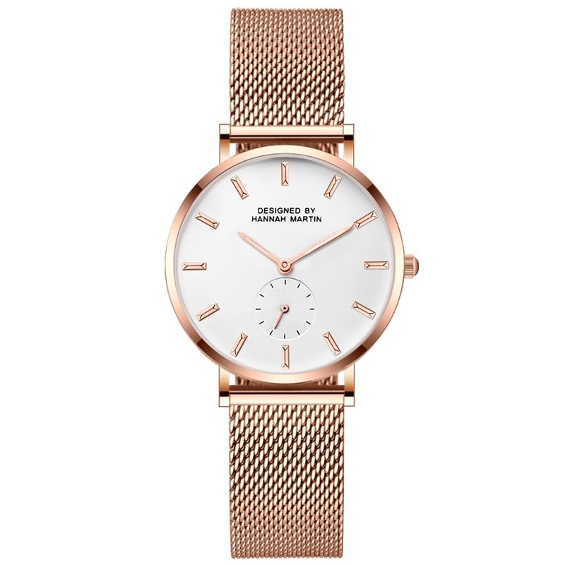 Women Watches Thin Steel Mesh Stainless Steel Japan Quartz Movement Top Brand Fashion Female Waterproof Wristwatch Clock Relogio