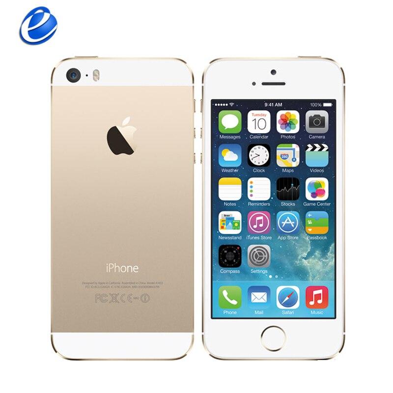 """bilder für Apple iPhone 5 S Ursprüngliche Handys Dual Core 4 """"IPS Verwendet Telefon 8MP 1080 P Smartphone GPS IOS iPhone5s Freigesetzter Handy"""