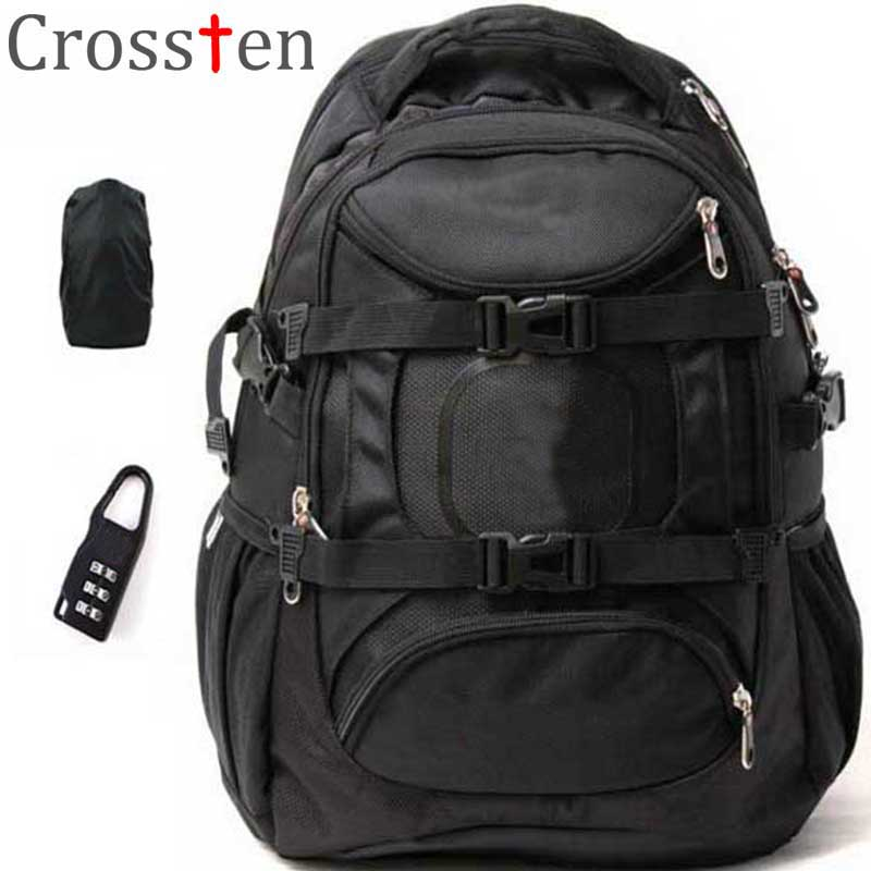 Crossten Swiss Military Army Travel Bags Laptop Backpack 15.6 Multifunctional Schoolbag Waterproof Fabric with gifts
