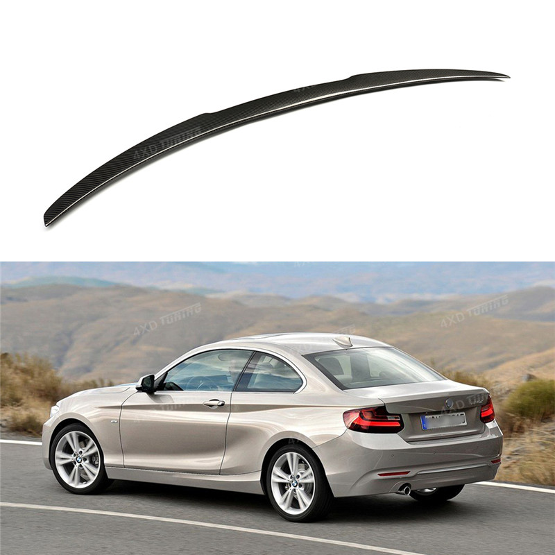 For BMW F22 carbon Spoiler M4 Style 2 Series F22 Coupe& F23 Convertible& M2 F87 Carbon Fiber Rear Spoiler Rear trunk wing 2014+ f22 performance carbon fiber spoiler f23 f87 m2 wing rear trunk lip for bmw 2 series 2014 2016 2 door coupe m235i 218i 220i
