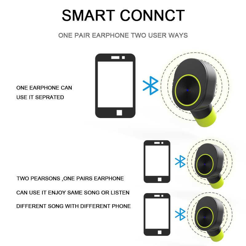 Беспроводные наушники True TWS Sport Bluetooth V4.2 наушники лучшие беспроводные наушники с микрофоном маленькая стерео потонепроницаемая гарнитура