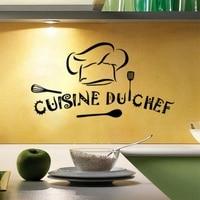 Francés de la cocina de Casa de pared de vinilo calcomanías cocina du chef arte etiqueta de la pared Calcomanía para pared de cocina decoración Mural